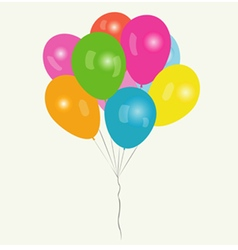 Bunch colored balloons vector