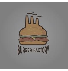 Burger factory vector