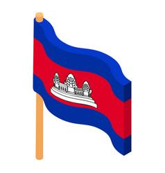 Cambodia flag icon isometric style vector