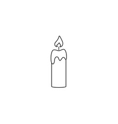 candle fire of icon vector image