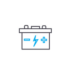 car battery thin line stroke icon car vector image