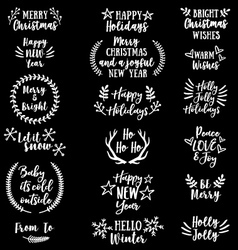 Christmas and new year set vector