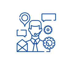 client support line icon concept client support vector image