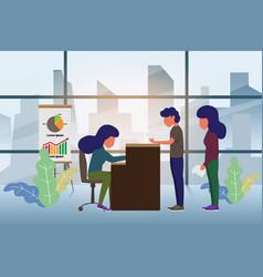 customer at reception reception service or vector image