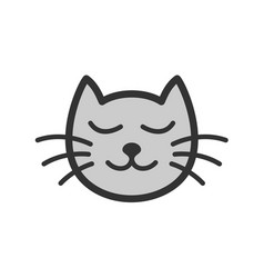 cute calm sleeping cat cartoon vector image