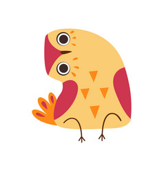 Cute owlet adorable owl bird sitting with bowed vector