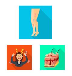 Design dermatology and disease symbol vector