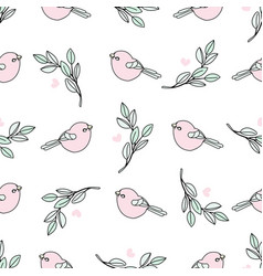 easter nature spring seamless pattern vector image
