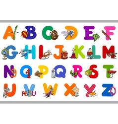 Educational alphabet set for kids vector
