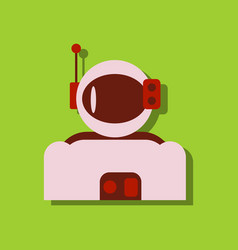 Flat icon design collection astronaut suit vector