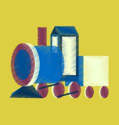 flat shading style icon toy train vector image
