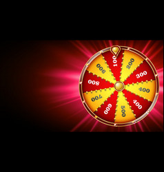 fortune wheel design casino game of chance vector image
