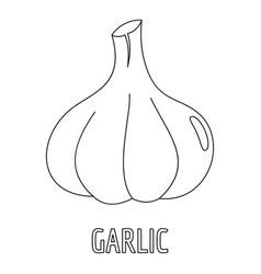Garlic icon outline style vector