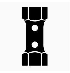 Glyph beautiful spark plug socket icon vector