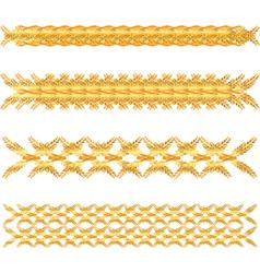 Gold floral border vector