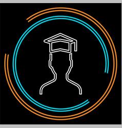 graduates student - education vector image