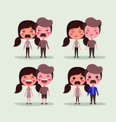 group of lovers couples characters vector image