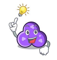Have an idea trefoil mascot cartoon style vector