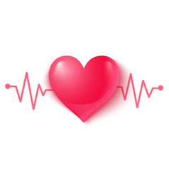 Heart and pulse vector