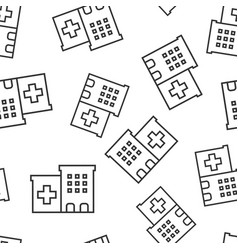 hospital building icon seamless pattern vector image