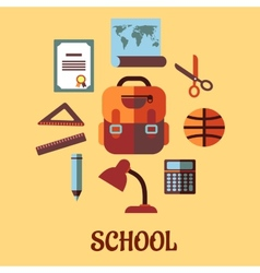 Infographic school education in flat design vector