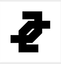 jj cc ll joj coc lol initials geometric letter vector image