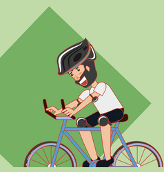 man riding bicycle design vector image