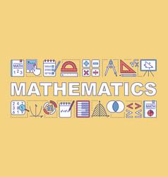 Mathematics word concepts banner presentation vector
