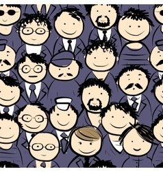 Men crowd seamless pattern for your design vector image