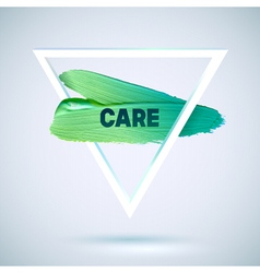 Motivation triangle watercolor stroke poster vector