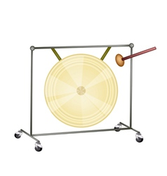 Musical Gong vector image