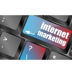Online marketing or internet marketing concepts vector