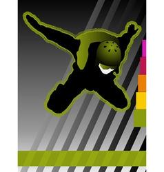 parachuting concept poster vector image