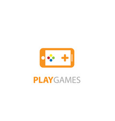play games phone logo design vector image