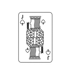 Poker playing card jack spades vector
