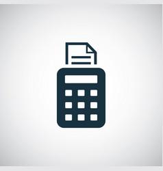 pos terminal icon simple flat element design vector image