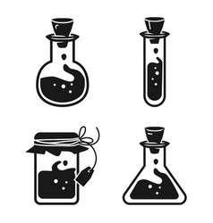 potion icon set simple style vector image