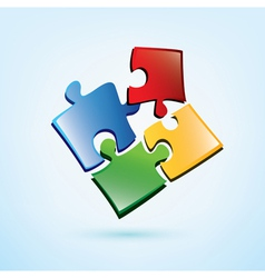 Puzzle pieces icon vector