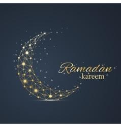 Ramadan greetings background Luxury gold vector image