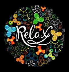 relax spinner vector image