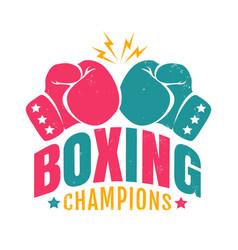 retro logo for a boxing vector image