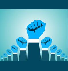 Revolution hand vector