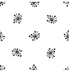 round bacteria pattern seamless black vector image