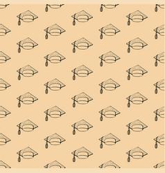 seamless background contour cap student vector image