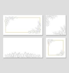 Set botanical frames vector