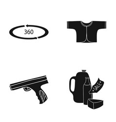 Shop trade sport and other web icon in black vector