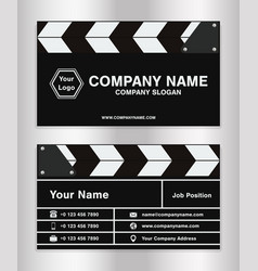simple clapperboard theme business name card vector image