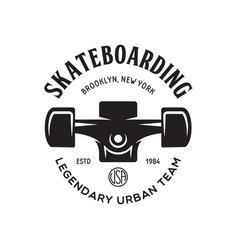skateboarding label badge skate shop logotype vector image