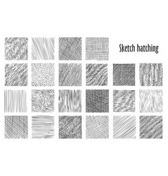 Sketch hatching abstract pattern backgrounds vector