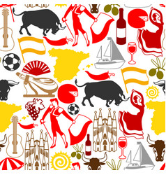 Spain seamless pattern spanish traditional vector